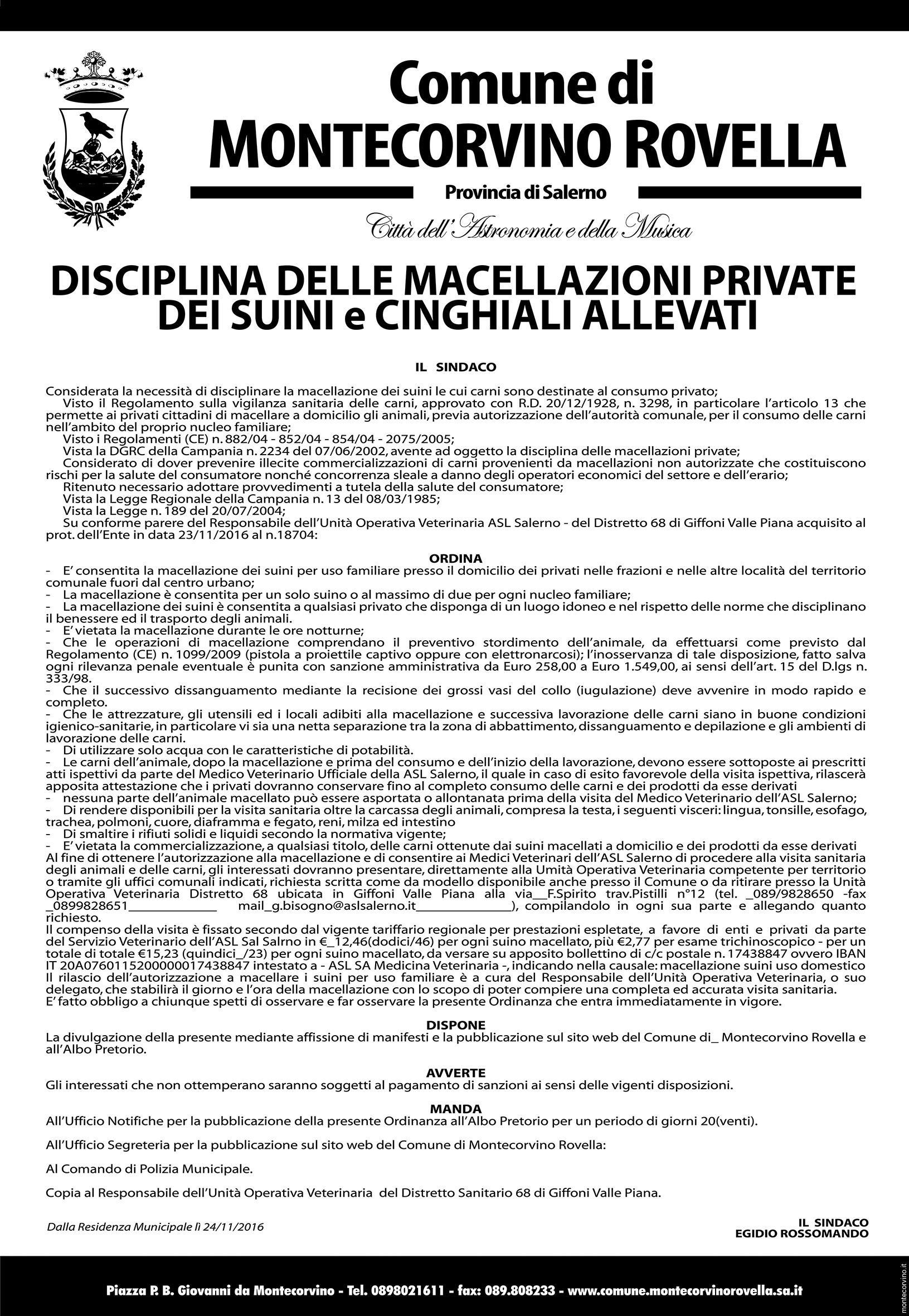 manifesto suini